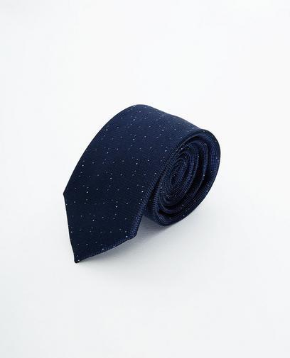 Nachtblauwe zijden das